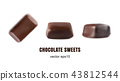 Beautiful Creative Vector Chocolate Sweets 43812544