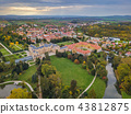 Castle Lednice in Czech Republic - aerial view 43812875