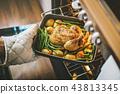 chicken food potato 43813345