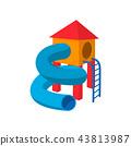 children, slide, tube 43813987
