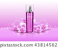 3d deodorant with flowers or realistic spray 43814562