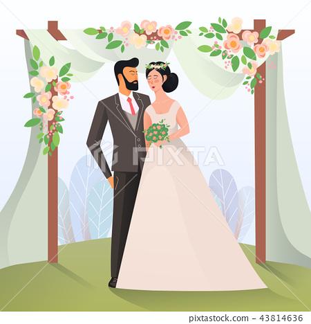 Couple of mature man and woman having wedding 43814636