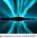 aurora, borealis, man 43814865