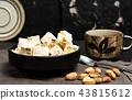 Turkish delight dessert with pistachio 43815612