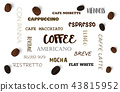 Vector background with coffee beans. 3d  43815952