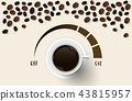 Vector background with coffee beans. 3d  43815957