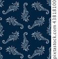 vector seahorse seamless 43818100