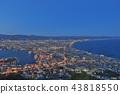 Daytime view of Hakodate, Hokkaido, Japan. 43818550