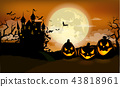 Halloween party invitation with Dracula castle 43818961