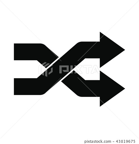 Intersecting arrows black simple icon 43819675