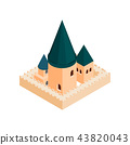 Roman Catholic church isometric 3d icon 43820043