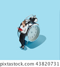 businesswoman are afraid of the symbol deadline 43820731