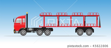 Truck for Car Transportation Vector 43822806