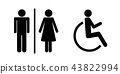 handicapped sign female 43822994