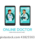 cartoon online doctor app poster template 43825563