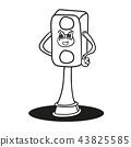 traffic lights outlined vector. Cartoon coloring pages 43825585