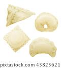 realistic 3d dumplings ravioli vareniki 43825621