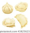 realistic 3d dumplings pelmeni khinkali 43825623
