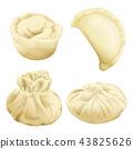 realistic 3d dumplings baozi khinkali 43825626