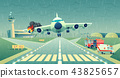 Vector mayday landing plane on strip, accident 43825657