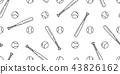 baseball Seamless pattern vector softball baseball 43826162