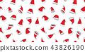 Christmas seamless pattern vector Santa hat  43826190