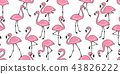 Flamingo seamless pattern vector pink Flamingos 43826222