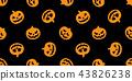 pumpkin seamless pattern Halloween vector ghost 43826238