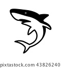 shark vector icon logo clip art character cartoon  43826240