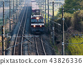 货运火车Kintaro EH500在清晨在东北干线运行 43826336