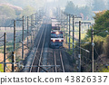 货运火车Kintaro EH500在清晨在东北干线运行 43826337