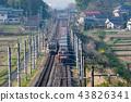 在清早东北干线横渡旅客列车的货车Kintaro 43826341