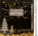 Window, Weihnachtsfeier Means Christmas Party 43826775