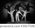 Ghosts in dark tunnel of nuclear power plant 43827588