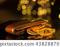 Bitcoin gold coins with wallet. Virtual cryptocurrency concept. 43828870