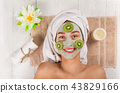 flower, face, mask 43829166