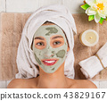 flower, face, mask 43829167