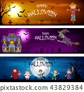 Three set of Halloween Banners 43829384