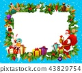 Holiday frame for Merry Christmas with Santa Claus 43829754