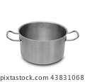 Stainless steel pot isolated. 43831068