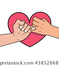 pinky promise with heart shape 43832668