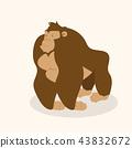 Cute gorilla character vector 43832672