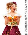 female, lady, beer 43832679