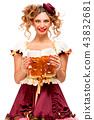 female, lady, beer 43832681