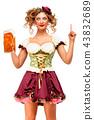 female, lady, beer 43832689
