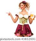 female, lady, beer 43832691