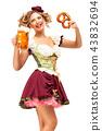female, lady, beer 43832694