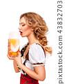 female, lady, beer 43832703