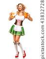female, lady, beer 43832728