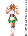 female, pretzel, lady 43832733